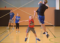 NWA Democrat-Gazette/BEN GOFF @NWABENGOFF<br /> The Swoboda family of Bentonville plays basketball Sunday, June 18, 2017, at the Bentonville Community Center.
