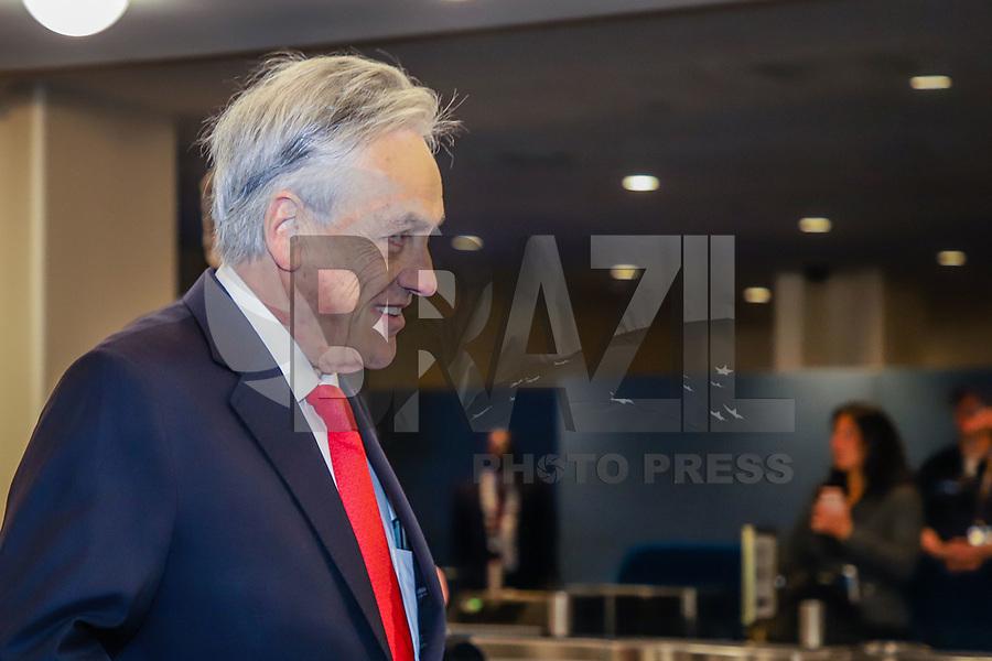 NOVA YORK, EUA, 24.09.2019 - ONU-EUA - Presidente Chile, Sebastián Piñera durante da 74ª Assembleia Geral da Organização das Nações Unidas (ONU) em Nova York nos Estados Unidos nesta terça-feira, 24. (Foto: Vanessa Carvalho/Brazil Photo Press)