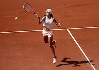 BOGOTÁ -COLOMBIA, 13-04-2018:Emiliana Arango de Colombia le ganó a la italiana Jasmine Paolini , tuvo una lesión en su segundo encuentro del día la cual la obligó a retirarse del torneo,durante el Claro Open Colsánitas WTA  international event que se juega en El Club Los Lagartos al norte de la Capital ./ Emiliana Arango of Colomba won to Jasmine Paolini of Italy  , during the Claro Open Colsánitas WTA international event that is played at El Club Los Lagartos north of the Capital. Photo: VizzorImage/ Felipe Caicedo / Staff