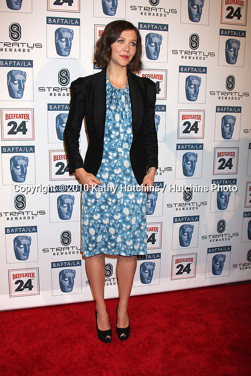 Maggie Gyllenhall.arriving at the BAFTA/LA Awards Season Tea Party 2010.Beverly Hills Hotel.Beverly Hills, CA.January 16, 2010.©2010 Kathy Hutchins / Hutchins Photo....