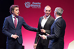 Enric Mas (ESP) on stage at the official route launch for La Vuelta 19 held in the ADDA auditorium in Alicante. The 74th edition of the Spanish race will take place between August 24th and September 15th 2019, setting out from Salinas de Torrevieja and ending in Madrid. 19th December 2018.<br /> Picture: Unipublic/Antonio Baixauli | Cyclefile<br /> <br /> <br /> All photos usage must carry mandatory copyright credit (© Cyclefile | Unipublic/Antonio Baixauli)