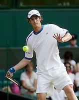 30-6-06,England, London, Wimbledon, third round match,  Andy Murray