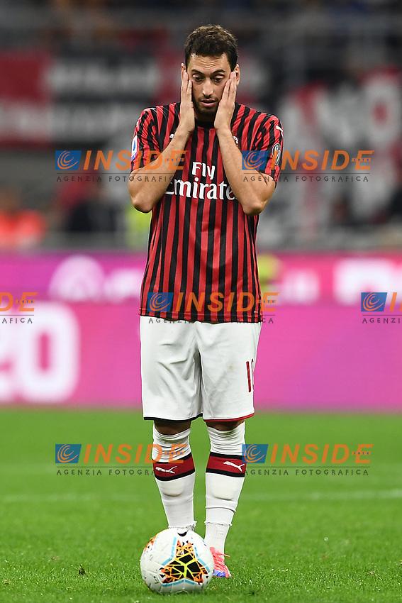 Hakan Calhanoglu of AC Milan dejection <br /> Milano 29/09/2019 Stadio Giuseppe Meazza <br /> Football Serie A 2019/2020 <br /> AC Milan - ACF Fiorentina   <br /> Photo Image Sport / Insidefoto
