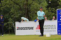 Victor Perez (FRA) tees off the 2nd tee during Sunday's Final Round of the Northern Ireland Open 2018 presented by Modest Golf held at Galgorm Castle Golf Club, Ballymena, Northern Ireland. 19th August 2018.<br /> Picture: Eoin Clarke | Golffile<br /> <br /> <br /> All photos usage must carry mandatory copyright credit (&copy; Golffile | Eoin Clarke)