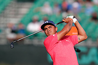 Rickie Fowler (USA) tees off on the 17th hole during the second round of the 118th U.S. Open Championship at Shinnecock Hills Golf Club in Southampton, NY, USA. 15th June 2018.<br /> Picture: Golffile | Brian Spurlock<br /> <br /> <br /> All photo usage must carry mandatory copyright credit (&copy; Golffile | Brian Spurlock)