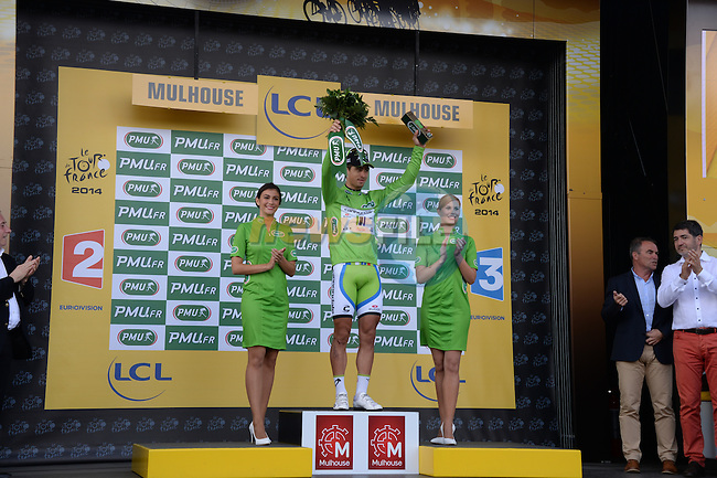 Peter Sagan (SVK) Cannondale retains the sprinter's Green Jersey after Stage 9 of the 2014 Tour de France running 170km from Gerardmer to Mulhouse. 13th July 2014.<br /> Picture: ASO/X.Bourgois/www.newsfile.ie