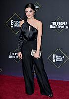 SANTA MONICA, USA. November 11, 2019: Lucy Hale at the 2019 E! People's Choice Awards at Santa Monica Barker Hangar.<br /> Picture: Paul Smith/Featureflash