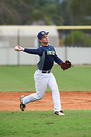 Joey Daniels (13) of Tampa, Florida during the Baseball Factory All-America Pre-Season Rookie Tournament, powered by Under Armour, on January 13, 2018 at Lake Myrtle Sports Complex in Auburndale, Florida.  (Michael Johnson/Four Seam Images)