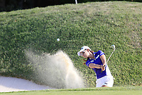 Jenny Shin (KOR) chips from a bunker at the 5th green during Thursday's Round 1 of The Evian Championship 2018, held at the Evian Resort Golf Club, Evian-les-Bains, France. 13th September 2018.<br /> Picture: Eoin Clarke | Golffile<br /> <br /> <br /> All photos usage must carry mandatory copyright credit (&copy; Golffile | Eoin Clarke)