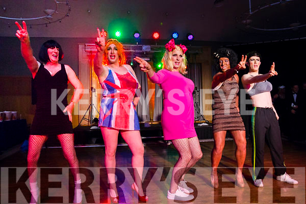 Posh, Ginger, Baby, Scary and Sporty Spice on stage at the Enable Ireland Lip Sing battle at the Ballyroe Heights hotel on Saturday night.