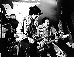 The Clash 1977 Mick Jones and Joe Strummer.© Chris Walter.