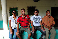 'Music for Hope' youth project teachers, Eneida Amaya, William Guardado, Pedro Esquival Chavez and Neri Venturas Jacoba, based in the communities of Amando Lopez, Nueva Esperanza and Zamoran, El Salvador..