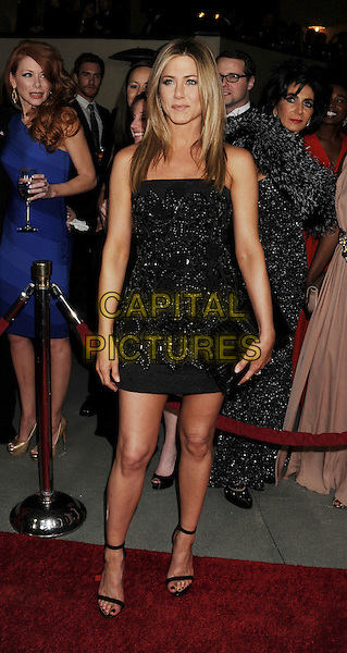 Jennifer Aniston  .The 64th Annual Directors Guild Of America Awards at the Grand Ballroom at Hollywood & Highland Center in Hollywood, California, USA..January 28th, 2012.full length black strapless dress beads beaded clutch bag open toe sandals .CAP/ROT/TM.©Tony Michaels/Roth Stock/Capital Pictures