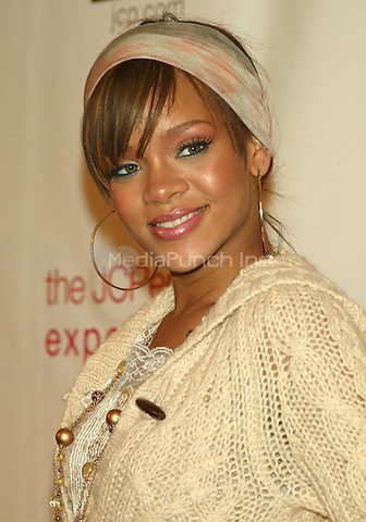 Rihanna attending the star studded Gala to mark the Opening of the JC PENNEY EXPERIENCE ON BROADWAY benefiting Broadway Cares at One Times Square in New York City. March 2, 2006 © Joseph Marzullo / MediaPunch