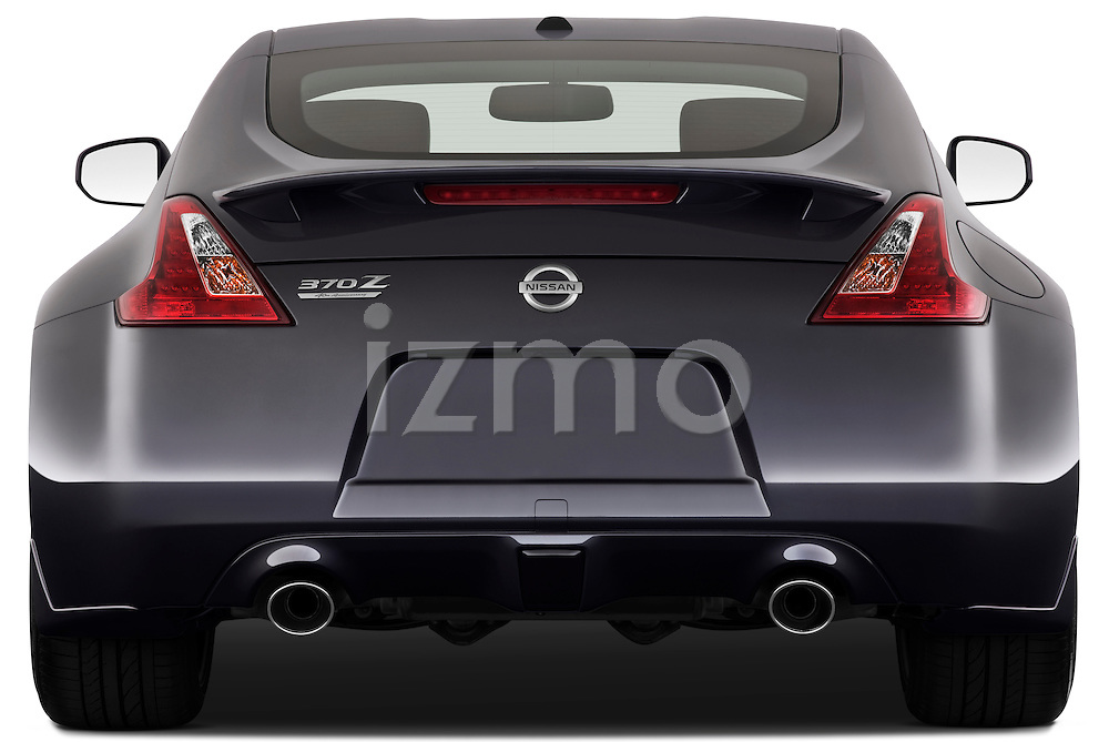 Straight rear view of a 2010 Nissan 370z 40th Coupe