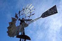 Windmill at Telegraph City in Calaveras County, California.