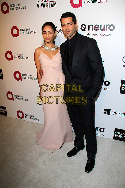 WEST HOLLYWOOD, CA - March 02: Cara Santana, Jesse Metcalfe at the 22nd Annual Elton John AIDS Foundation Oscar Viewing Party, Private Location, West Hollywood,  March 02, 2014.  <br /> CAP/MPI/JO<br /> &copy;Janice Ogata/MediaPunch/Capital Pictures