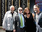 Creator Chicago Fire - Dick Wolf - Jason Geghe - Mariska Hargitay - Taylor Kinney - NBC Upfront at Radio City, New York City, New York on May 11, 2015 (Photos by Sue Coflin/Max Photos)