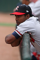 Richmond Braves Franklin Nunez during an International League game at Dunn Tire Park on April 21, 2006 in Buffalo, New York.  (Mike Janes/Four Seam Images)