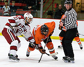 Marshall Everson (Harvard - 21), Will MacDonald (Princeton - 22) - The Princeton University Tigers defeated the Harvard University Crimson 2-1 on Friday, January 29, 2010, at Bright Hockey Center in Cambridge, Massachusetts.