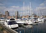 Boats in marina, Wet Dock, Ipswich, Suffolk, England