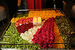 A colorful table made with fresh flowers at the Museum of Fine Arts Houston 's 2010 Grand Gala Ball  Friday Oct. 01, 2010. (Dave Rossman/For the Chronicle)