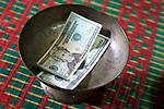 Donation Given To Temple By Meoun, Tony & Tan, Wat Bo
