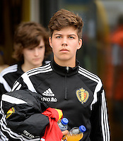20150523 - SINT-TRUIDEN ,  BELGIUM : Belgian Isabelle Iliano pictured during the friendly soccer game between the Belgian Red Flames and Norway, a preparation game for Norway for the Women's 2015 World Cup, Saturday 23 May 2015 at Staaien in Sint-Truiden , Belgium. PHOTO DAVID CATRY