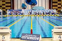 Dubai swimming pool starting<br /> FINA Airweave Swimming World Cup 2015<br /> Dubai U.A.E  2015  Nov.6 th - 7th3 rd<br /> Day1 - Nov. 6 th Heats<br /> Photo G. Scala/Deepbluemedia/Insidefoto