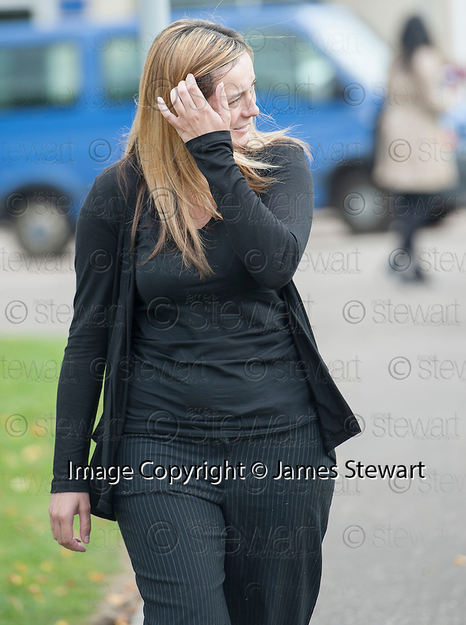 Kaitlyn MacDonald, 23, who works for the Dogs Trust, leaves Livingston Sheriff Court  after pleading guilty to charges of leaving her own dogs starving, thirsty and living in their own mess. Macdonald's duties at the Dogs Trust include canine caring, cleaning kennels, walking, feeding and grooming dogs, and administering 