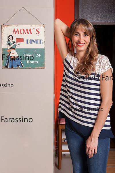 Milano 2014, Benedetta Parodi fotografata nella sua casa