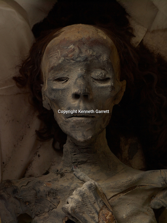 mm7864; 18th Dynasty; New Kingdom; Egypt; The Egyptian Museum; Cairo; Mummy, Queen Tiye, Tut Grandmother, Tut DNA