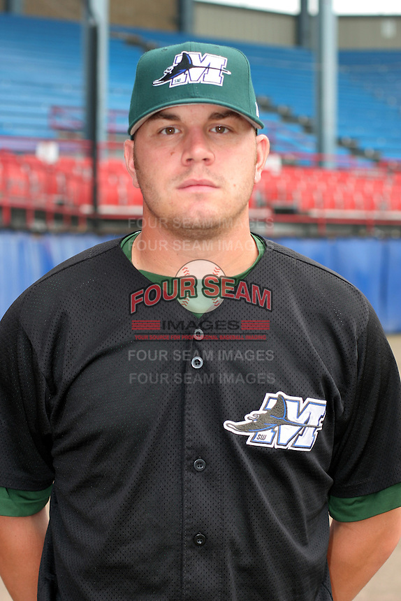 Southwest Michigan Devil Rays Greg Reinhard poses for a photo before a Midwest League game at C.O. Brown Stadium on July 14, 2006 in Battle Creek, Michigan.  (Mike Janes/Four Seam Images)