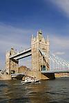 Tower Bridge, River Thames, London, United Kingdom, Great Britain.