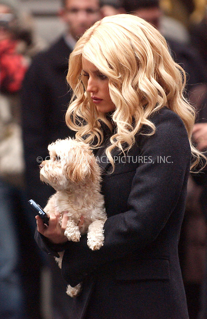 WWW.ACEPIXS.COM . . . . . ....March 2 2007, New York City....Jessica Simpson on the set of her new movie 'Blond Ambition' in Manhattan....Please byline: KRISTIN CALLAHAN - ACEPIXS.COM.. . . . . . ..Ace Pictures, Inc:  ..(646) 769 0430..e-mail: info@acepixs.com..web: http://www.acepixs.com