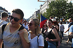 "120,000 Czechs gathered to call on Prime Minister Andrej Babiš to resign after the European Commission charged there was a conflict of interest between his public and private affairs in a massive demonstration in Wenceslas Square in Prague, Czech Republic on June 4, 2019. The ""million man demonstration"" was the largest demonstration in the Czech Republic since the Velvet Revolution ushered in the fall of communism in 1989."