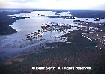 Aerial of Lake Pymatuning, Crawford Co., PA