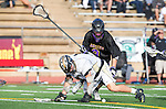 San Diego, CA 05/25/13 - Carrigan Henkel (Westview #9) and John Rankin (Westview #4) in action during the 2013 Boys Lacrosse San Diego CIF DIvision 1 Championship game.  Westview defeated Carlsbad 8-3.