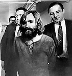 Charles Manson American Criminal known as the Manson Family a quasi-commune in Los Angeles California 1960'S found guilty of the conspiracy to commit the Tate/LaBianca murders Helter Skelter,