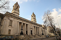 COPY BY TOM BEDFORD<br /> Pictured: Cardiff Crown Court. Friday 10 February 2017<br /> Re: Melissa Pesticcio, 23, Lewis Hall, 18 and Michael Wheeler, 22 have appeared at Cardiff Crown court in connection with the death of a 22-year-old woman following a collision in Cardiff.<br /> Sophie Taylor, 22, from Llandaff , died following a collision in the early hours of Monday, August 22 2016, in which her black BMW 1 Series collided with a block of flats at the junction of Meteor Street and Moira Street in the Adamsdown area of Cardiff, Wales.<br /> Pesticcio, from Llanrumney , is charged with causing death by dangerous driving, causing serious injury by dangerous driving, and dangerous driving.