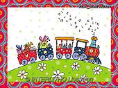 Marcello, CHILDREN BOOKS, BIRTHDAY, GEBURTSTAG, CUMPLEAÑOS, paintings+++++,ITMCEDH1412INT,#Bi#, EVERYDAY ,locomotive