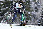 Italy's David Hofer competes during the FIS Ski World Cup 1.3 Km Sprint Free Qualification, on February 2, 2014 in Dobbiaco, Toblach. <br /> <br /> &copy; Pierre Teyssot