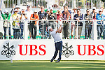 Damien Perrier of France tees off the first hole during the 58th UBS Hong Kong Golf Open as part of the European Tour on 10 December 2016, at the Hong Kong Golf Club, Fanling, Hong Kong, China. Photo by Marcio Rodrigo Machado / Power Sport Images
