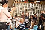 Education preschool 2-4 year olds female teacher leading music dance motion activity horizontal