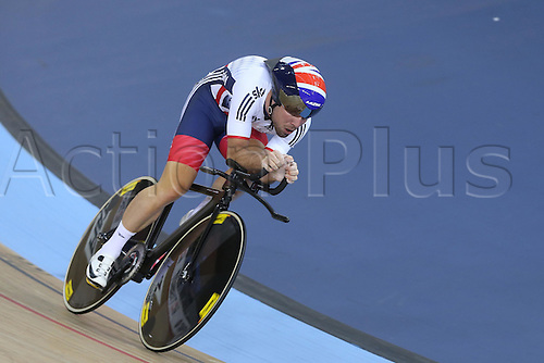 04.03.2016. Lee valley Velo Centre. London England. UCI Track Cycling World Championships Mens Omnium qualifications races. CAVENDISH Mark (GBR)