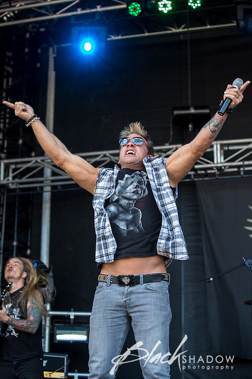 Fozzy featuring wrestling champion Chris Jericho performing at Soundwave Festival 2013, Flemington Racecouse, Melbourne, 1 March 2013