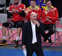 Volleyball 1. Bundesliga  Saison 2017/2018 TV Rottenburg - Hypo Tirol Alpen Volleys Haching     27.12.2017 Enttaeuschung TV Rottenburg; Trainer Hans Peter Mueller - Angstenberger
