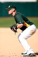 Daric Barton - Oakland Athletics - 2009 spring training.Photo by:  Bill Mitchell/Four Seam Images