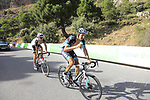 Marcus Burghardt (GER) Bora-Hansgrohe and M.R. Walscheid (GER) Team Sunweb climb Sierra de la Alfaguara during Stage 4 of the La Vuelta 2018, running 162km from Velez-Malaga to Alfacar, Sierra de la Alfaguara, Andalucia, Spain. 28th August 2018.<br /> Picture: Eoin Clarke | Cyclefile<br /> <br /> <br /> All photos usage must carry mandatory copyright credit (&copy; Cyclefile | Eoin Clarke)