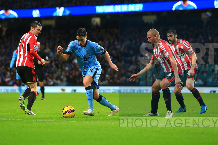 Samir Nasri of Manchester City in action - Manchester City vs. Sunderland - Barclay's Premier League - Etihad Stadium - Manchester - 28/12/2014 Pic Philip Oldham/Sportimage